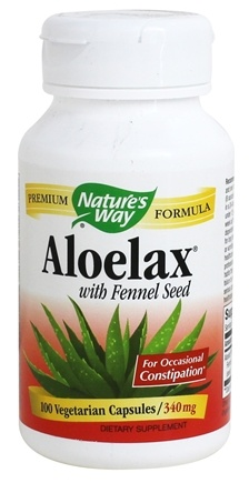 Nature's Way - Aloelax 530 mg. - 100 Vegetarian Capsules
