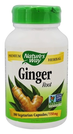 Nature's Way - Ginger Root 550 mg. - 100 Vegetarian Capsules
