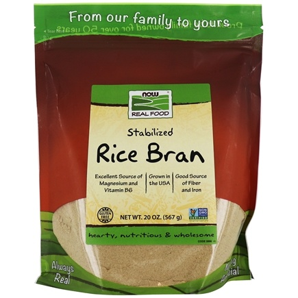 NOW Foods - Rice Bran - 20 oz.
