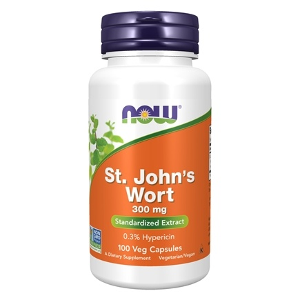 NOW Foods - Saint John's Wort 300 mg. - 100 Capsules