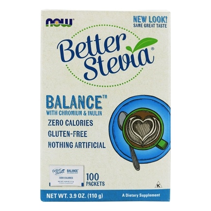 NOW Foods - Stevia Balance with Inulin and Chromium - 100 Packet(s)