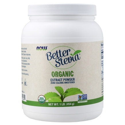 NOW Foods - Better Stevia Zero Calorie Sweetener Certified Organic Extract Powder - 1 lb.