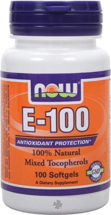 DROPPED: NOW Foods - Vitamin E-100 Mixed - 100 Softgels