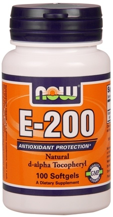 DROPPED: NOW Foods - Vitamin E- 200 IU - 100 Softgels