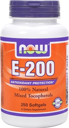 DROPPED: NOW Foods - Vitamin E-200 IU Mixed Tocopherols/Unesterified 200 IU - 250 Softgels