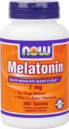 DROPPED: NOW Foods - Melatonin with B3, B6, & Magnesium - Timed-Release, Vegetarian 1 mg. - 250 Tablets