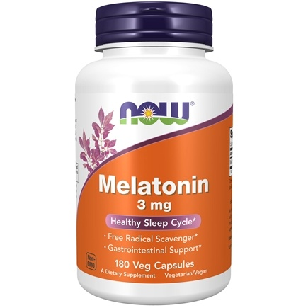 NOW Foods - Melatonin 3 mg. - 180 Capsules