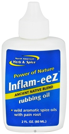 DROPPED: North American Herb & Spice - Inflam-Eez Rubbing Oil - 2 oz. CLEARANCE PRICED