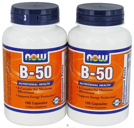DROPPED: NOW Foods - B-50 Capsules (100+100) Twin Pack Special - 200 Capsules