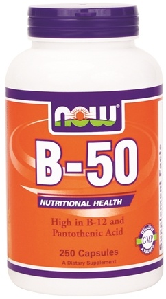 DROPPED: NOW Foods - B-50 with Vitamin C 250 mg. - 250 Capsules