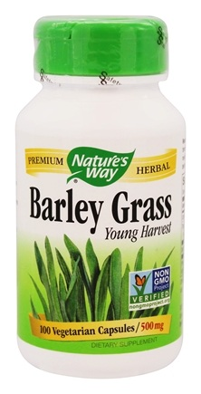 Nature's Way - Barley Grass 500 mg. - 100 Capsules