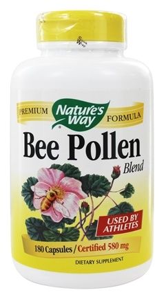 Nature's Way - Bee Pollen 580 mg. - 180 Capsules