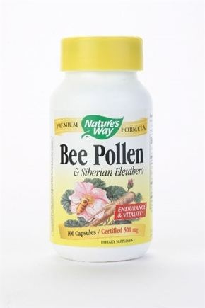 DROPPED: Nature's Way - Bee Pollen-Eleuthero - 100 Capsules