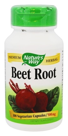 Nature's Way - Beet Root Powder - 100 Capsules