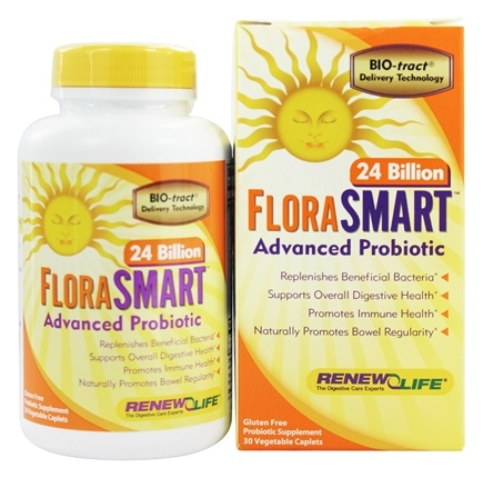 DROPPED: Renew Life - FloraSmart Advanced Probiotic 24 Billion - 30 Vegetarian Caplet(s)