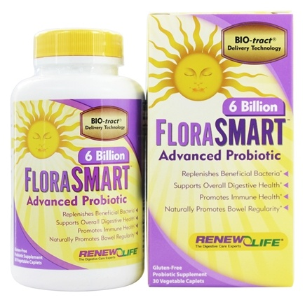 ReNew Life - FloraSmart Advanced Probiotic 6 Billion - 30 Vegetarian Caplet(s)