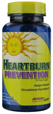 DROPPED: ReNew Life - Heartburn Prevention - 60 Vegetarian Capsules CLEARANCED PRICED