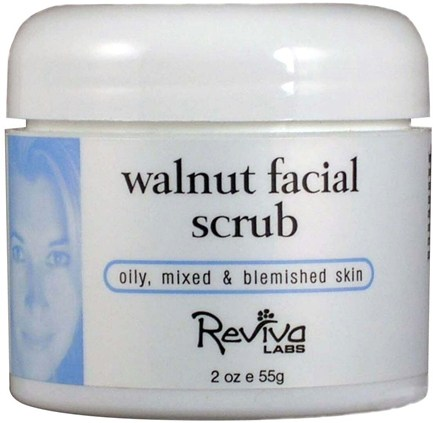 DROPPED: Reviva Labs - Walnut Facial Scrub - 2 oz. CLEARANCE PRICED