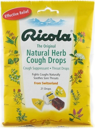 DROPPED: Ricola - Natural Herb Throat Drop Original Natural Herb - 21 Lozenges CLEARANCED PRICED