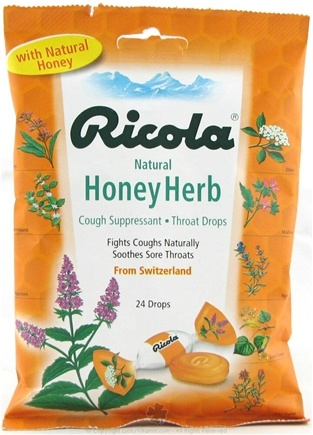 DROPPED: Ricola - Natural Herb Throat Drops Honey-Herb - 24 Lozenges
