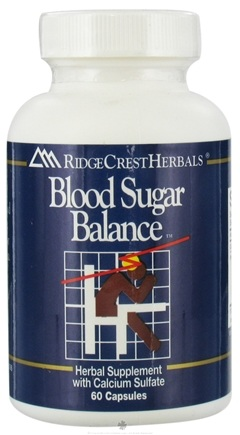 DROPPED: Ridgecrest Herbals - Blood Sugar Balance - 60 Capsules CLEARANCE PRICED