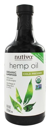 Nutiva - Hemp Oil Organic Cold Pressed - 16 oz.