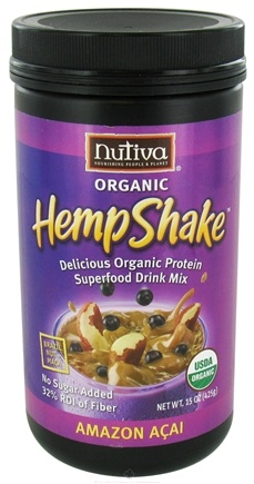 DROPPED: Nutiva - Organic Hemp Shake- Amazon Acai - 15 oz. CLEARANCE PRICED