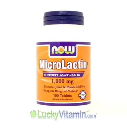 DROPPED: NOW Foods - MicroLactin (Supports Joint Health) 1000 mg. - 100 Tablets