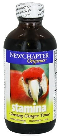DROPPED: New Chapter - Stamina Ginseng Ginger Tonic - 4 oz. CLEARANCE PRICED