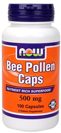 DROPPED: NOW Foods - Bee Pollen 500 mg. - 100 Capsules
