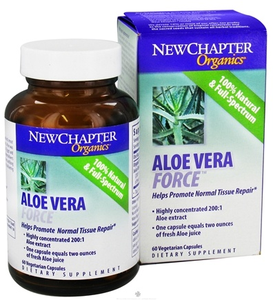 DROPPED: New Chapter - Aloe Vera Force - 60 Vegetarian Capsules