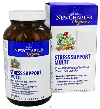 DROPPED: New Chapter - Stress Support Multi - 180 Tablets CLEARANCE PRICED