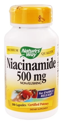 Nature's Way - Niacinamide 500 mg. - 100 Capsules
