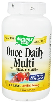DROPPED: Nature's Way - Once Daily Multivitamin- with iron formula - 180 Tablets