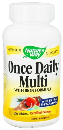 DROPPED: Nature's Way - Once Daily Multivitamin- with iron formula - 100 Tablets CLEARANCE PRICED
