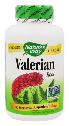 Nature's Way - Valerian Root 530 mg. - 180 Vegetarian Capsules