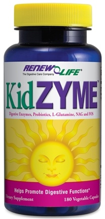 DROPPED: ReNew Life - Kidzyme Children's Digestive Enzyme - 180 Vegetarian Capsules CLEARANCE PRICED