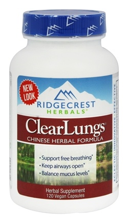 Ridgecrest Herbals - ClearLungs Chinese Herbal Formula - 120 Vegan Caps