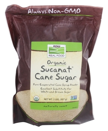 NOW Foods - Sucanat Granulated Cane Organic Non-GE - 2 lbs.