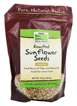 DROPPED: NOW Foods - Sunflower Seeds, Unsalted - 1 lb.