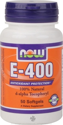 DROPPED: NOW Foods - Vitamin E- D-Alpha Tocopheryl Acetate 400 IU - 50 Softgels