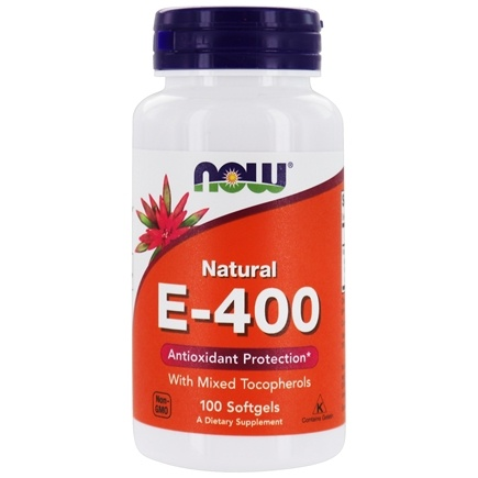 DROPPED: NOW Foods - Vitamin E-Mixed Tocopherols 400 IU - 100 Softgels CLEARANCE PRICED