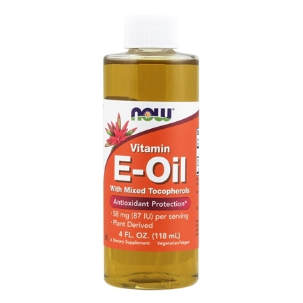 NOW Foods - Natural Vitamin E-Oil Antioxidant Protection with Mixed Tocopherols - 4 oz.