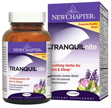 DROPPED: New Chapter - Tranquilnite Plus - 30 Softgels