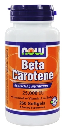 NOW Foods - Beta Carotene 25000 IU - 250 Softgels