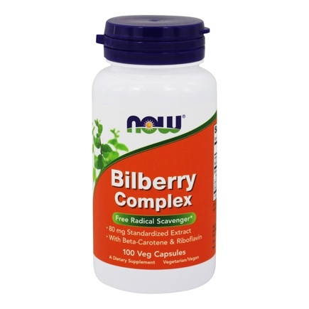 NOW Foods - Bilberry Complex 80 mg. - 100 Capsules
