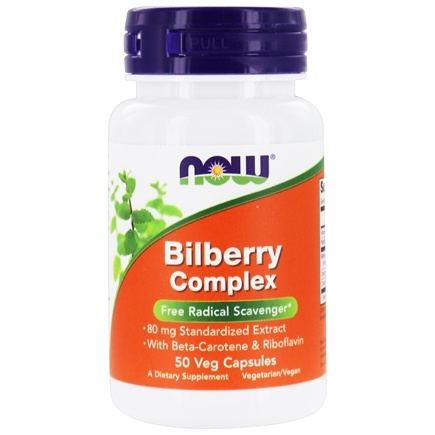 DROPPED: NOW Foods - Bilberry Complex 80 mg. - 50 Capsules CLEARANCE PRICED