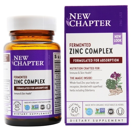 New Chapter - Zinc Food Complex - 60 Vegetarian Tablets