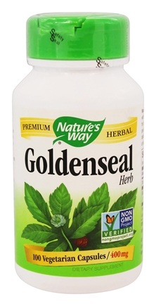 Nature's Way - Goldenseal Herb 400 mg. - 100 Vegetarian Capsules