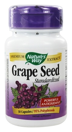 Nature's Way - Grape Seed Standardized Extract 100 mg. - 30 Capsules